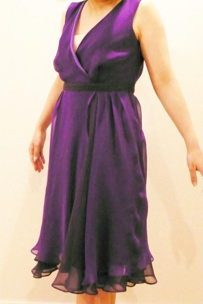 ヴァイオレット・レイヤードドレス