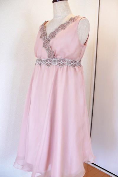 ピンク・レイヤードドレス